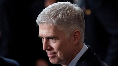 Photograph of US Supreme court associate justice Neil Gorsuch.