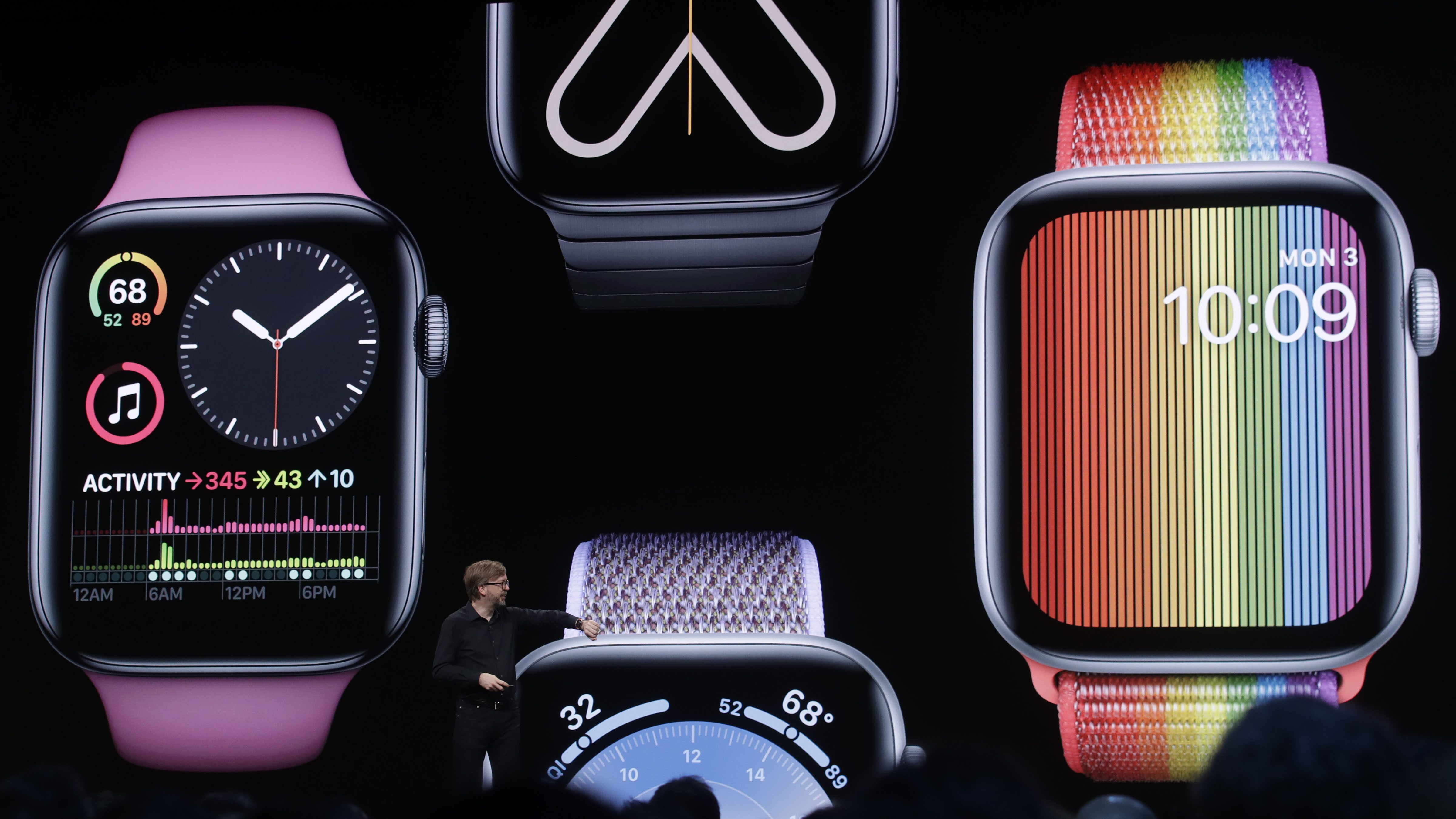 Apple's Kevin Lynch speaks on Apple Watch at the Apple Worldwide Developers Conference in San Jose