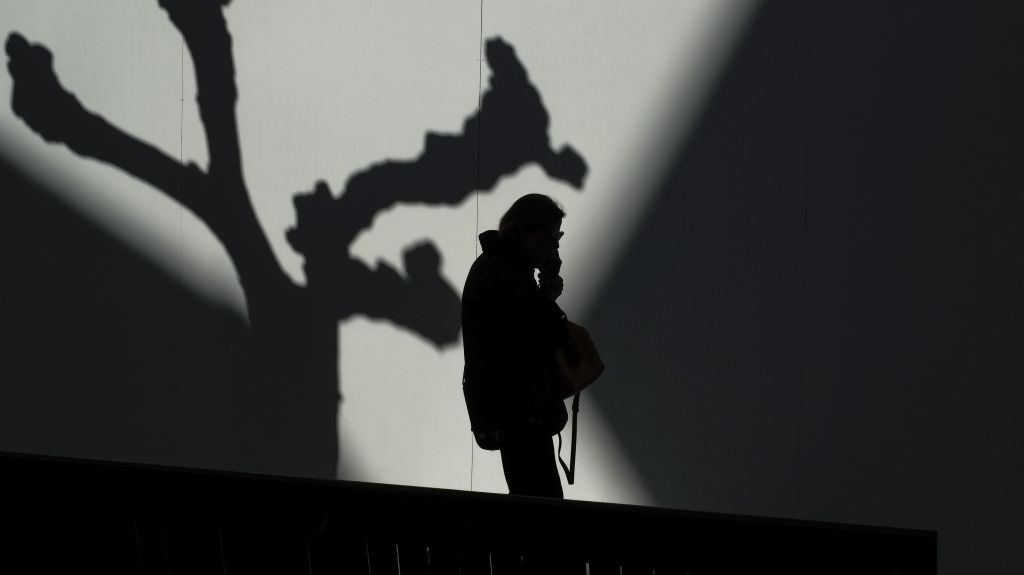 Woman in a shadow