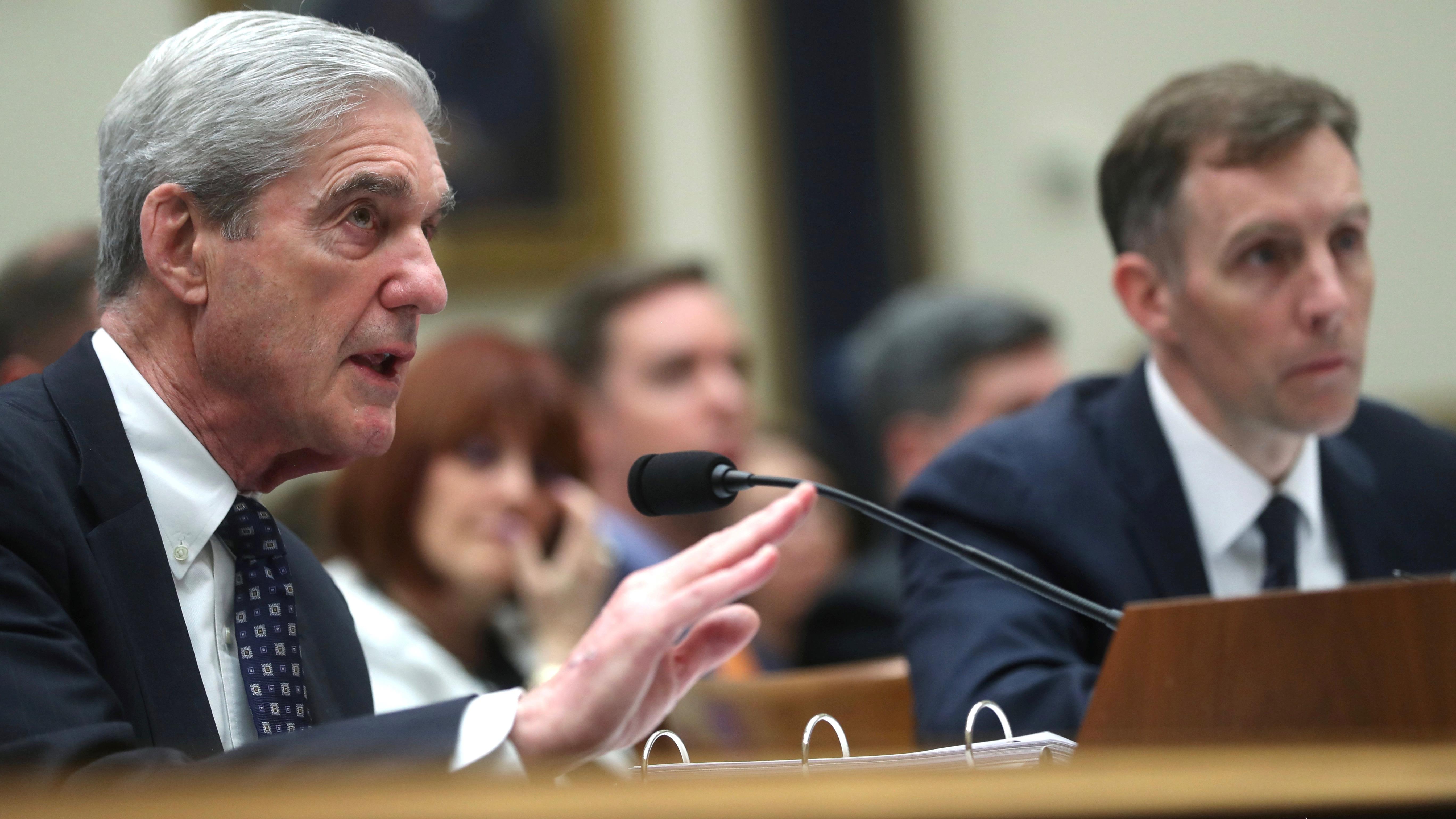 Robert Mueller testifies before a House committee