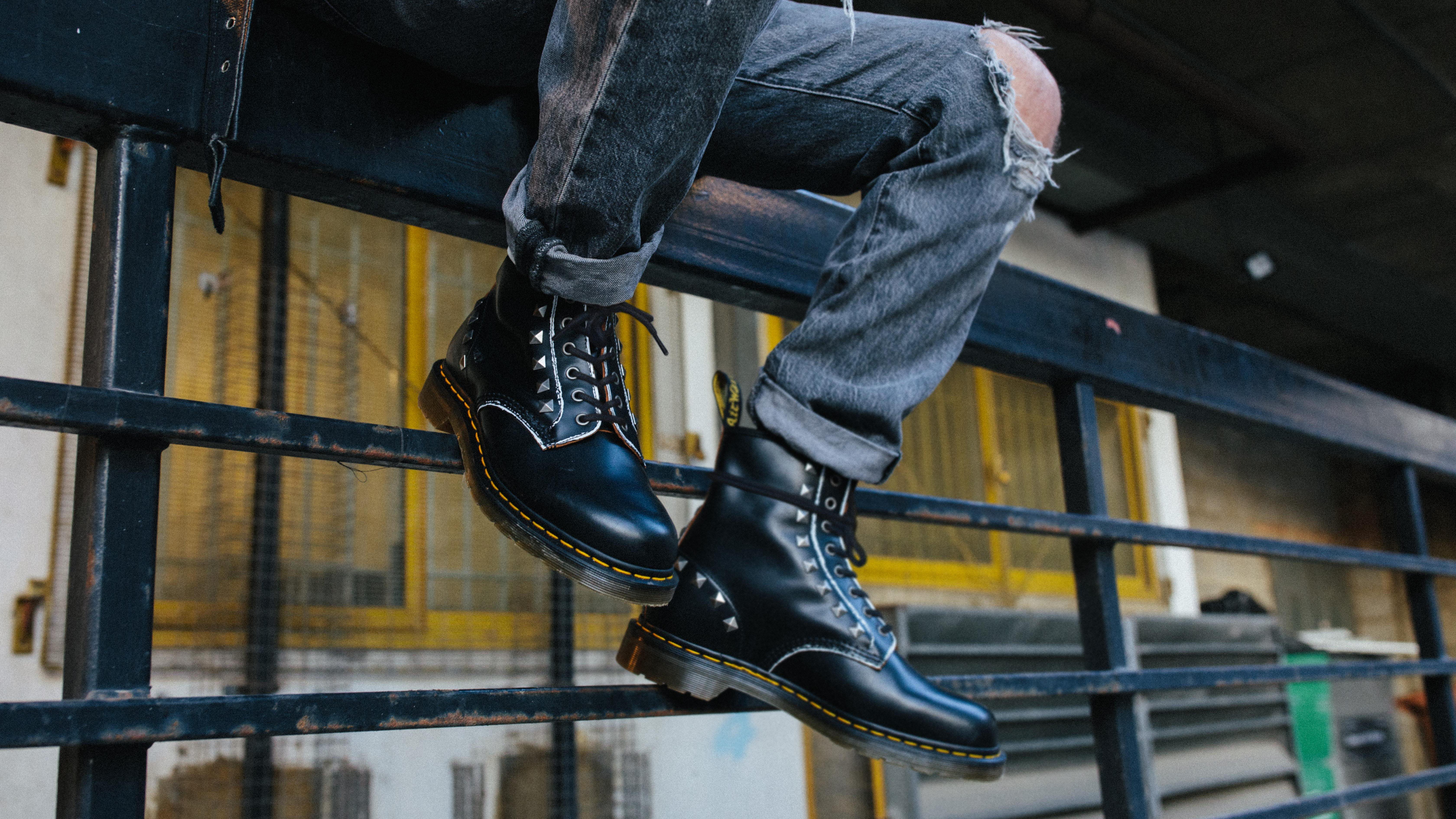 Dr. Martens black stud boots