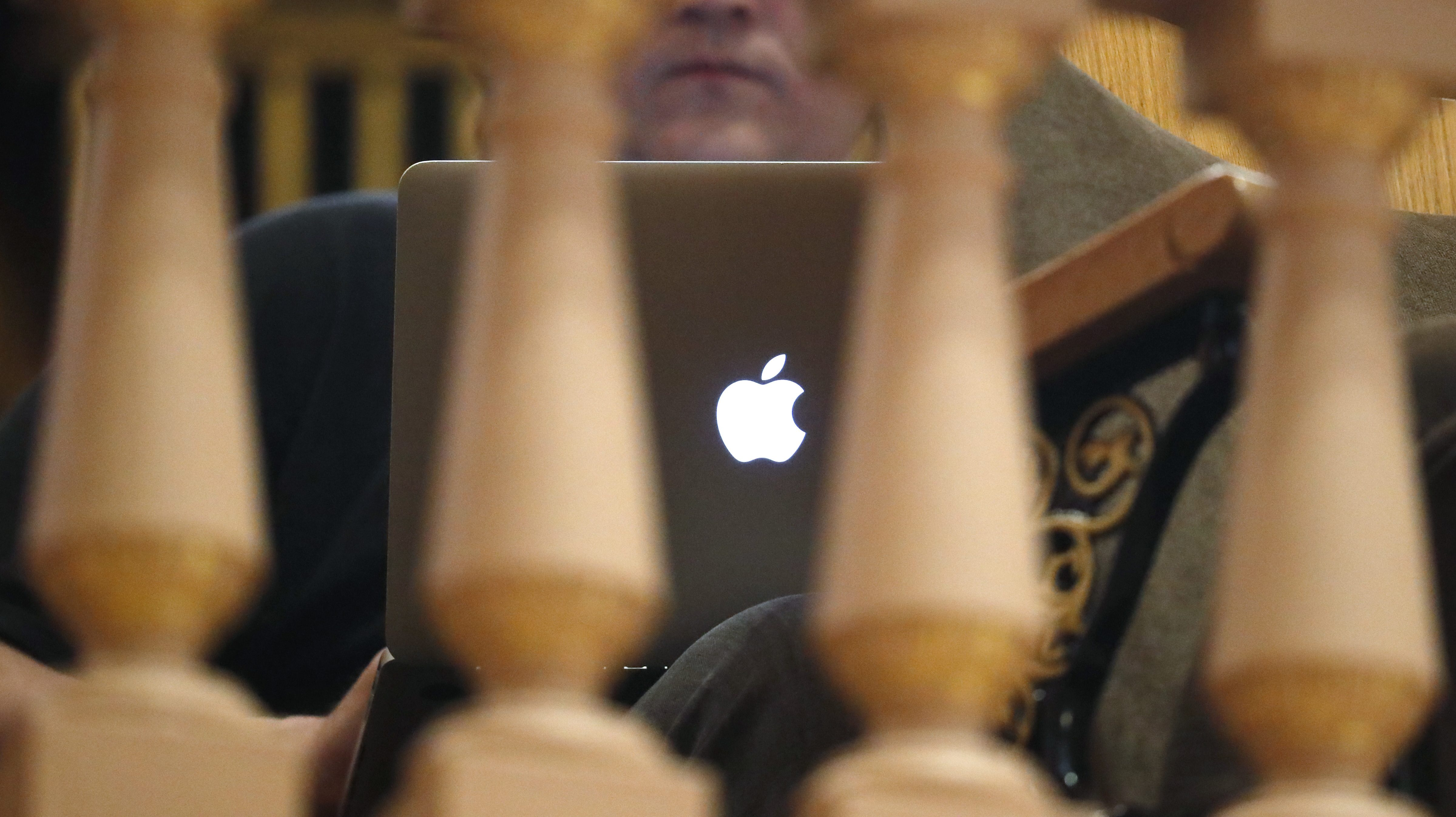 Using an Apple MacBook from behind a gate