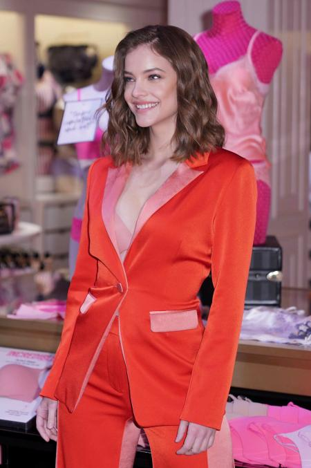Barbara Palvin looking slender at a Victoria's Secret launch event