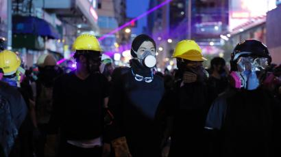 Protesters in Hong Kong on Aug. 17, 2019.