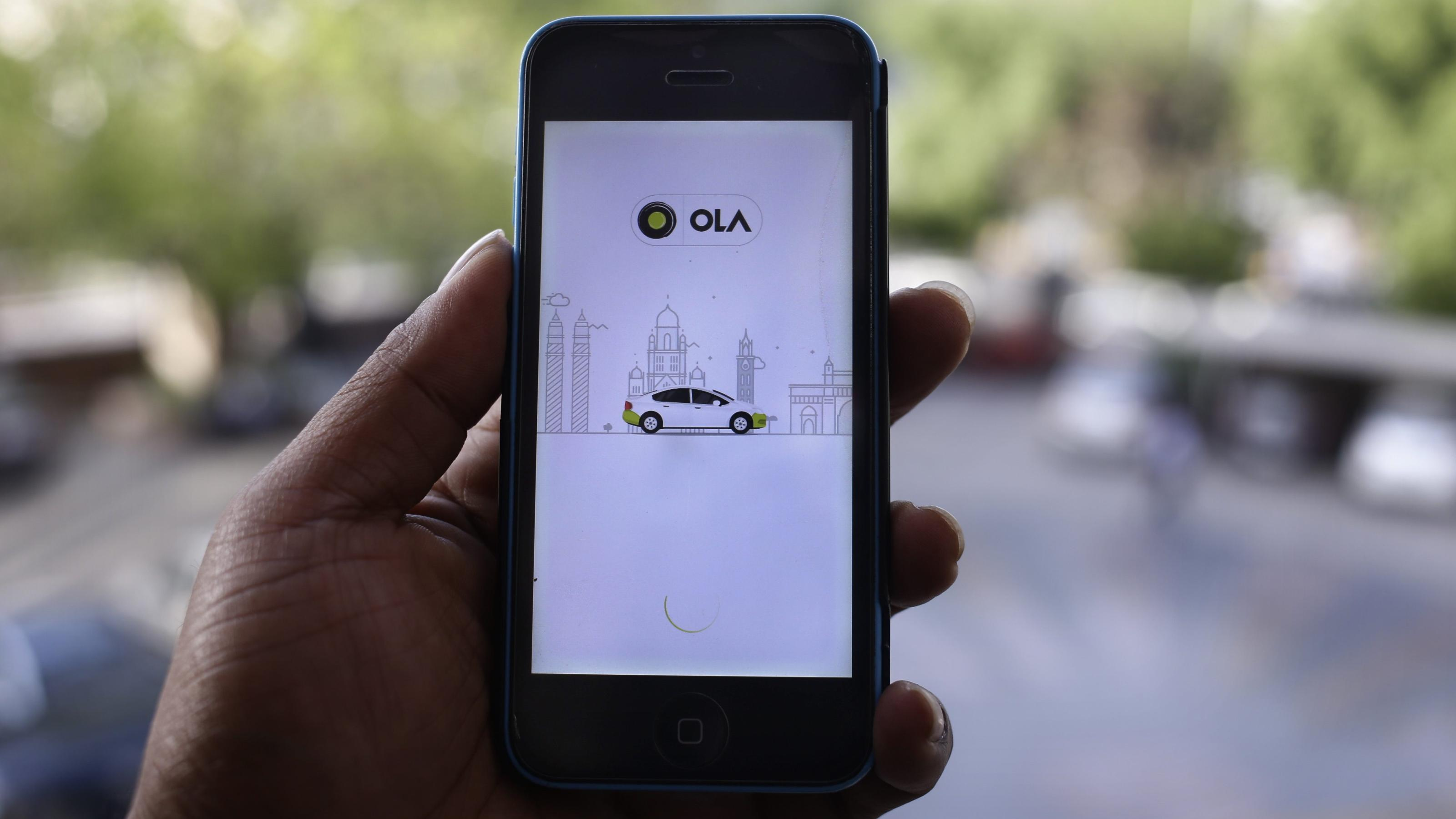 Ola has a lead over Uber in India's ride-hailing market