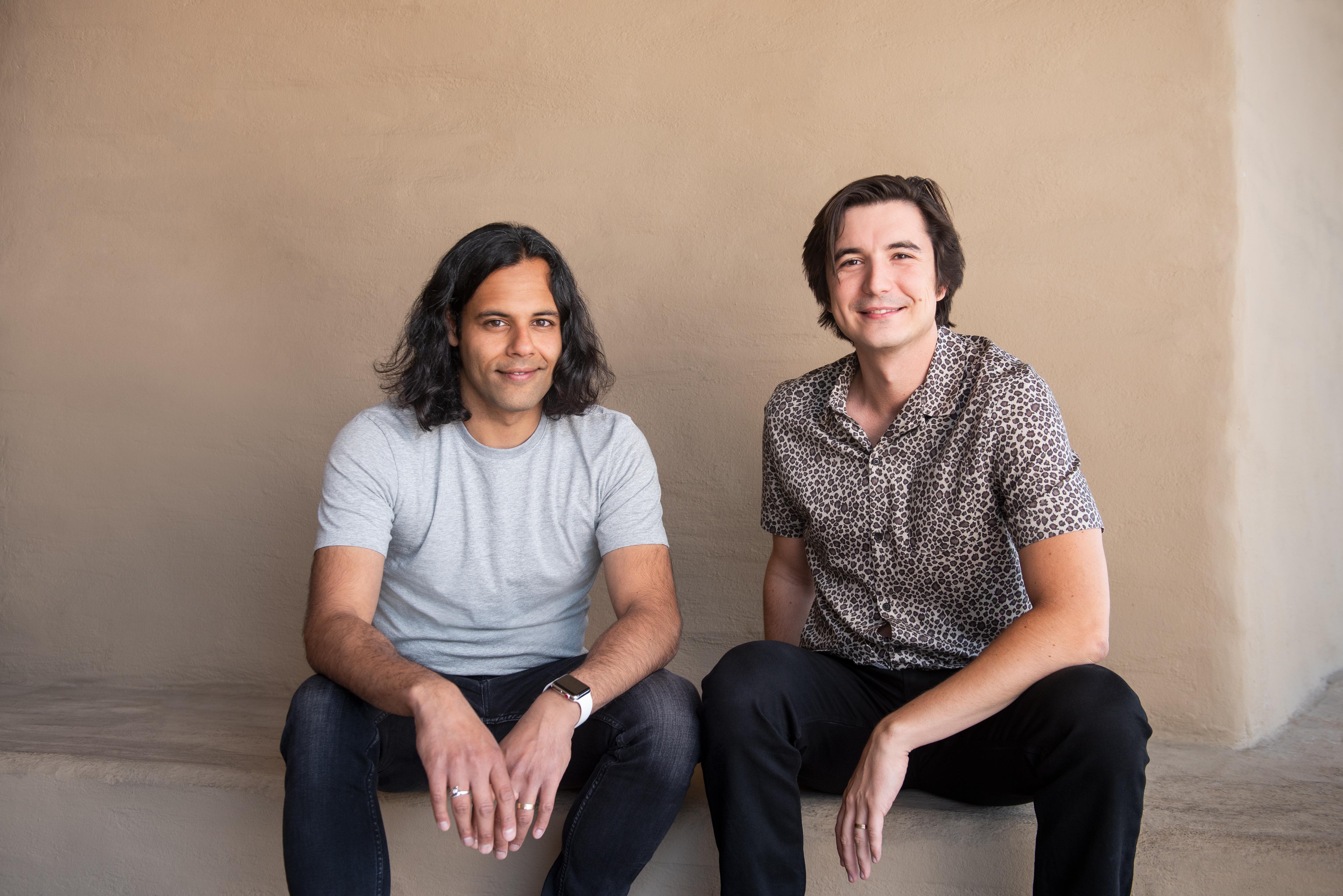 Robinhood founders Baiju Bhatt and Vlad Tenev.