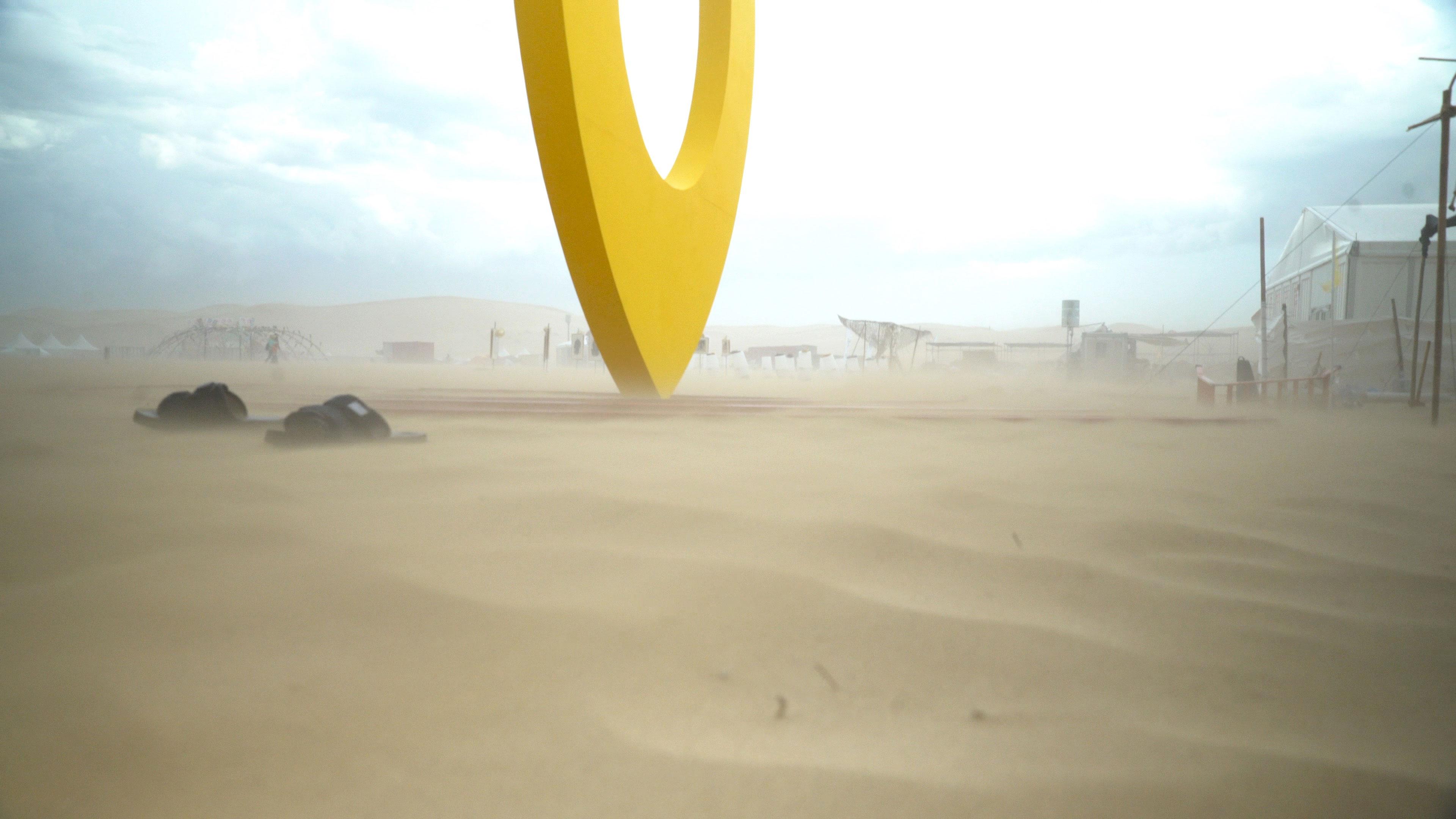 Sand storm at Gobi Heaven