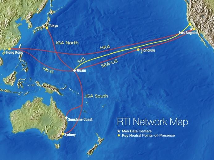 Guam undersea cables