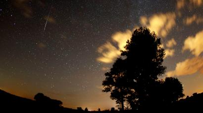 Last year's Perseid meteor shower, as seen from Premnitz, near Berlin.