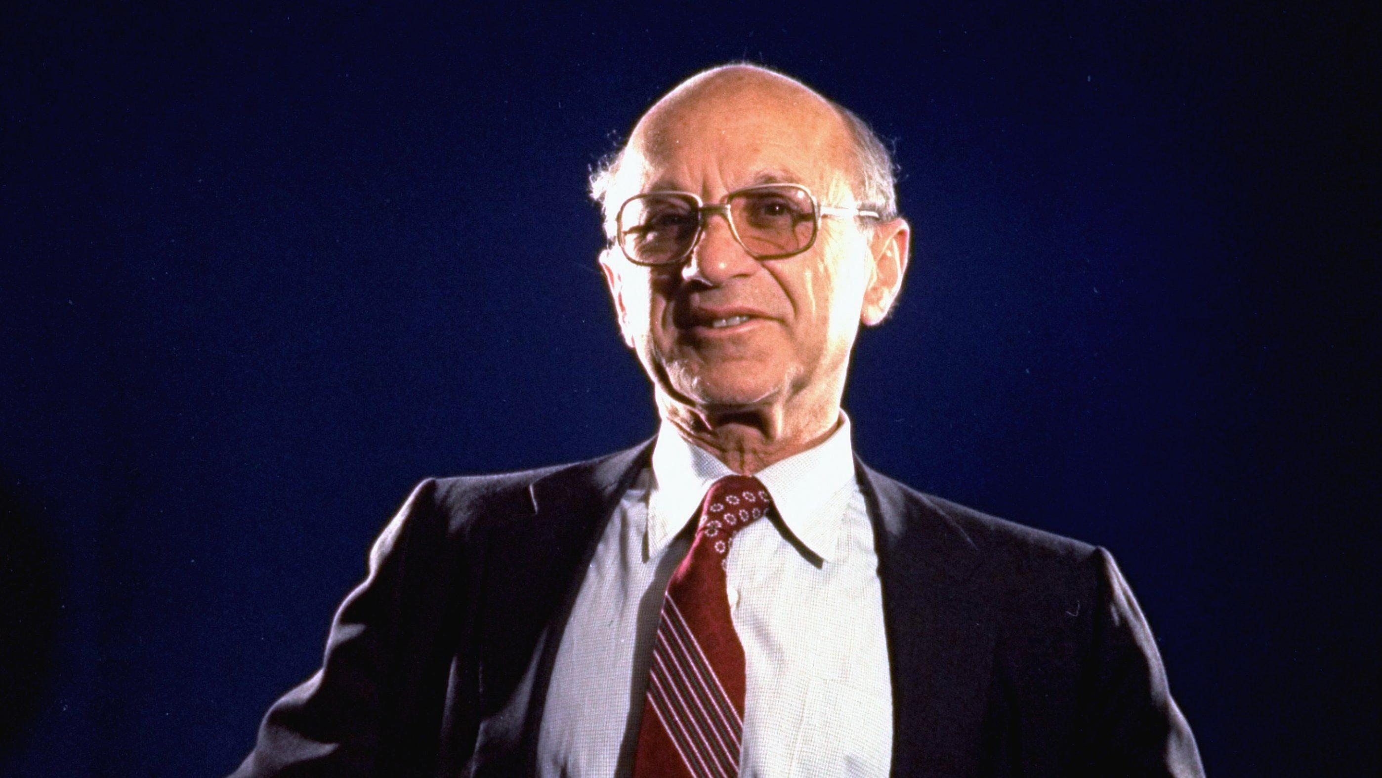 A photo of economist Milton Friedman