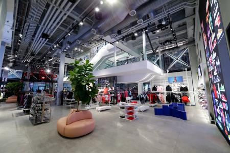 The first floor of the new Puma store