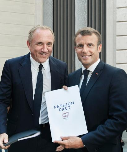 Pinault and Macron hold the fashion pact