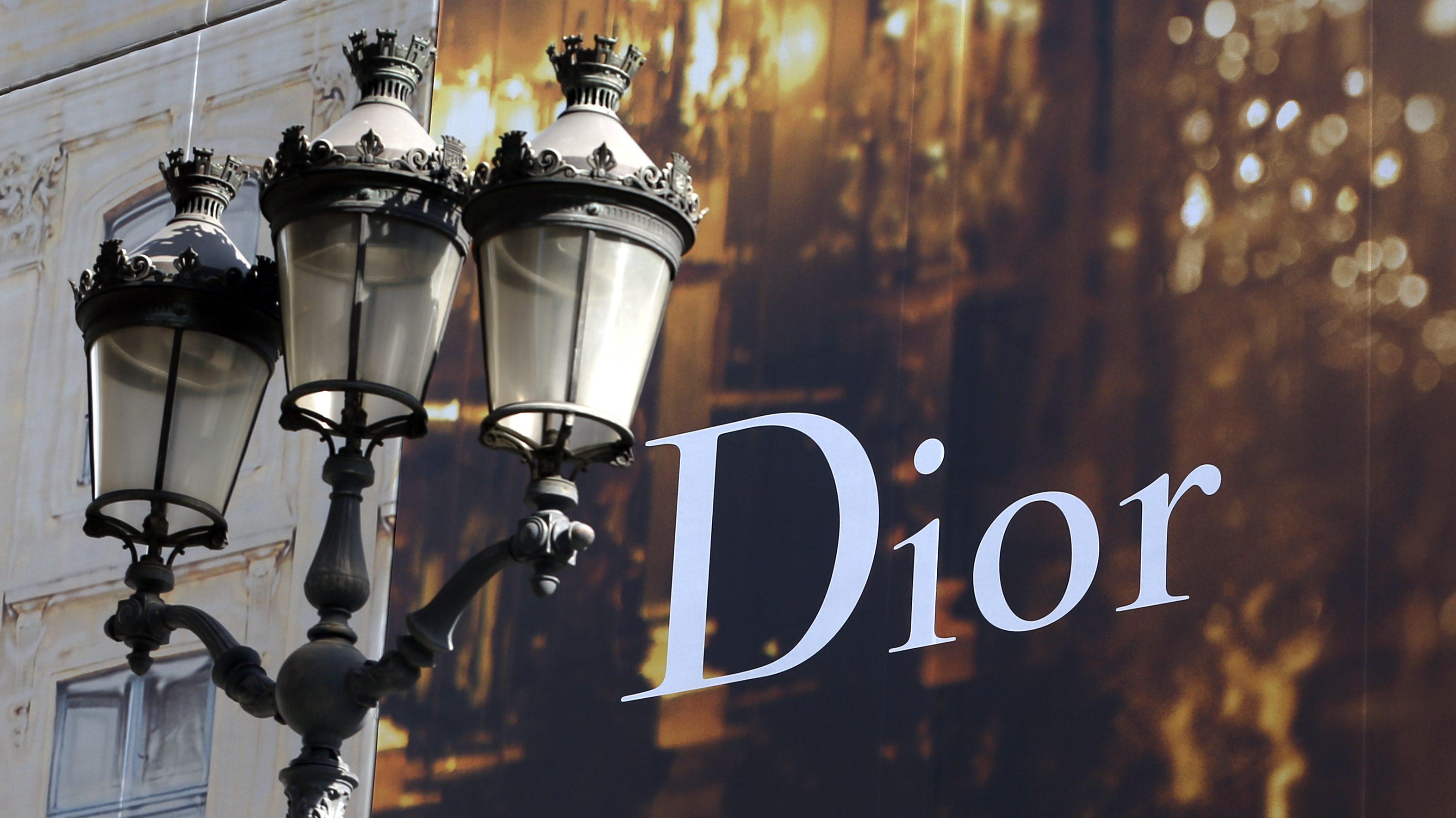 A Dior sign