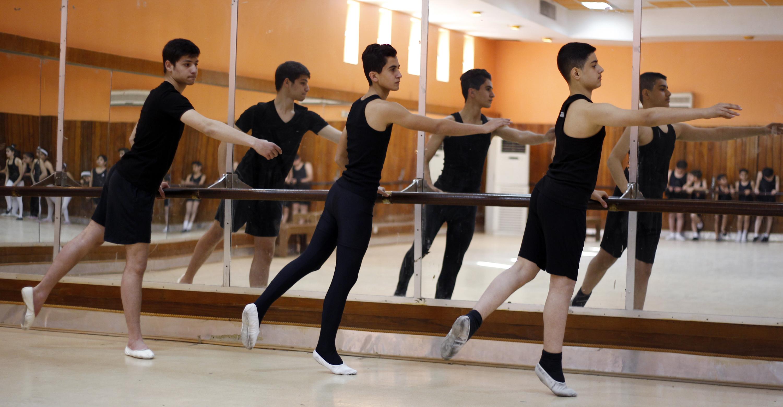 Boys dancing ballet