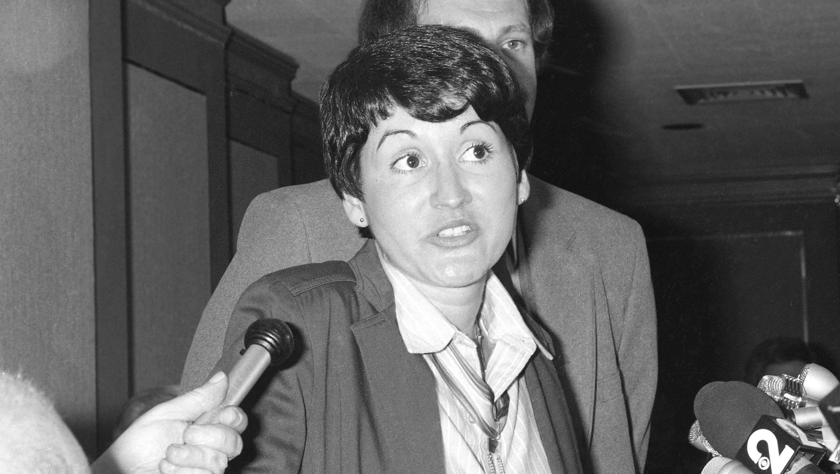 Rosie Ruiz at a press conference