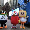 Mascots of Tencent Music Entertainment celebrate the company's IPO outside the New York Stock Exchange (NYSE) in New York, U.S., December 12, 2018. REUTERS/Bryan R Smith - RC190FCF6CC0