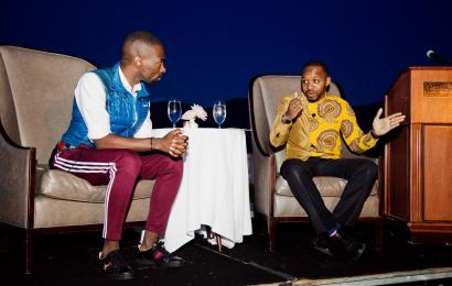 deray mckesson and boniface mwangi at bretton woods 75