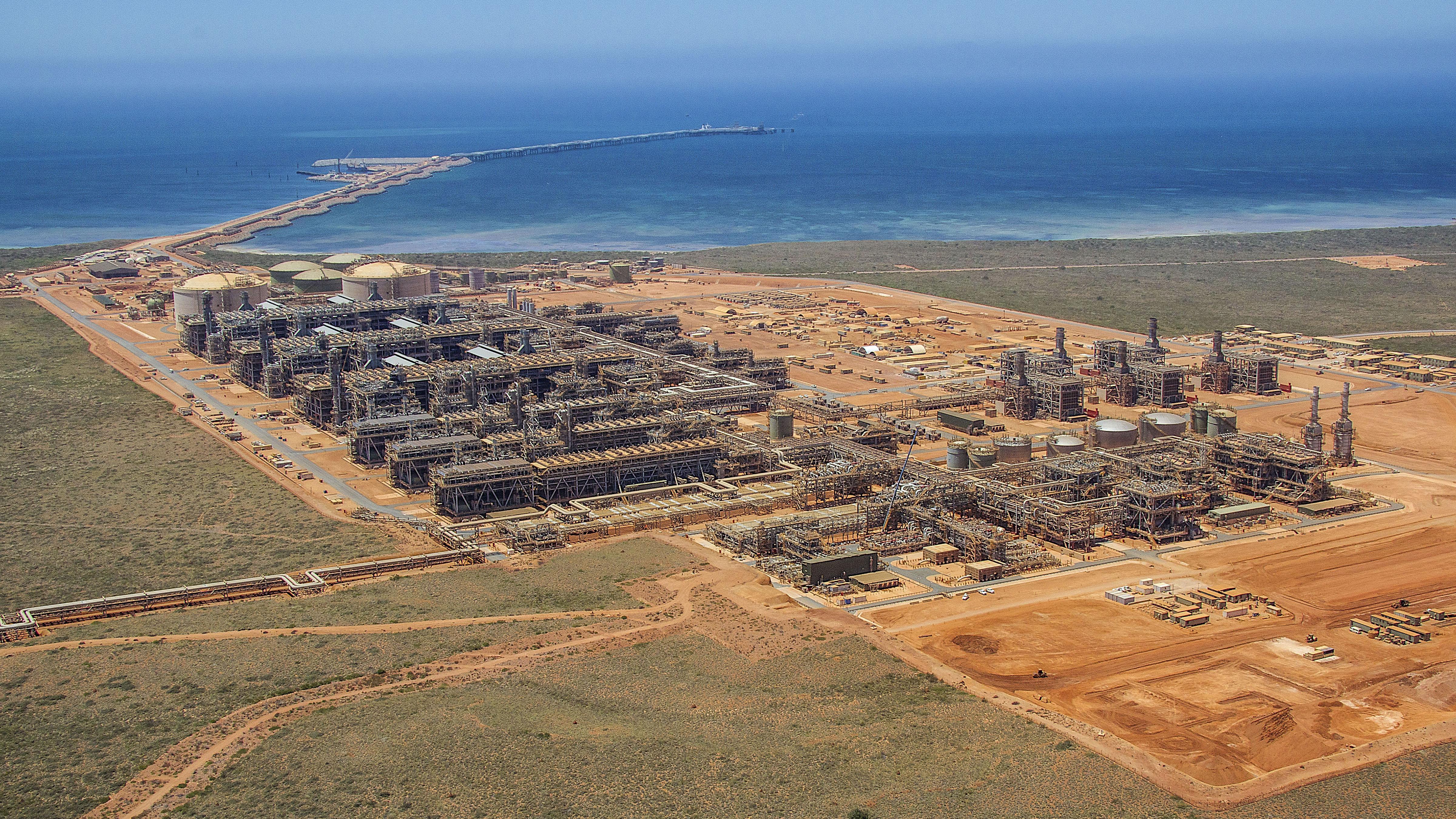 Chevron's liquefied natural gas project Gorgon in Western Australia.