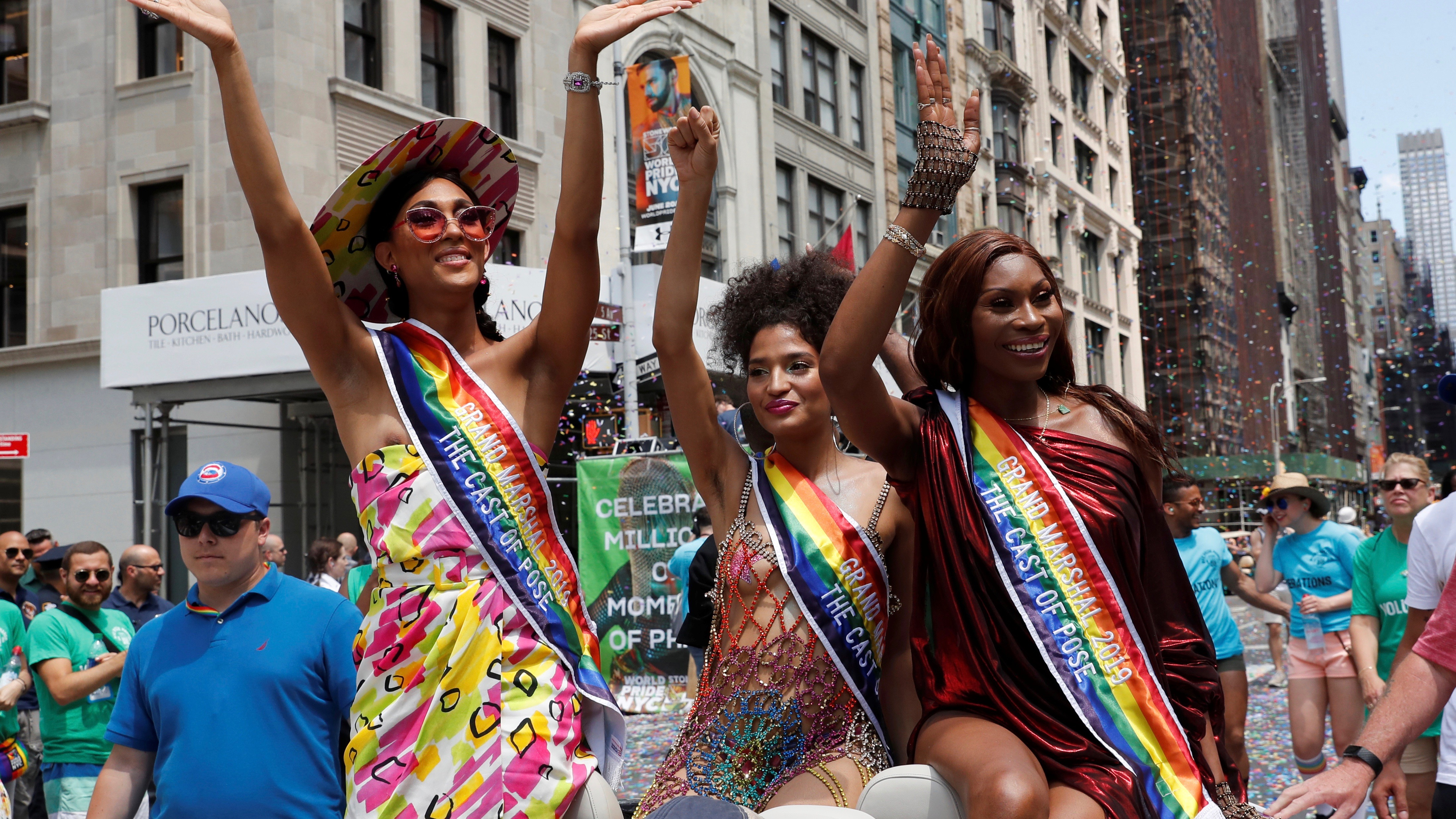 Grand Marshalls of the 2019 World Pride NYC and Stonewall 50th LGBTQ Pride Parade in New York.