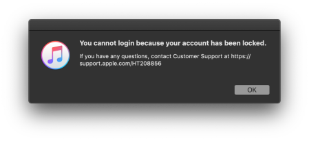 What happens to your iTunes account when Apple says you've