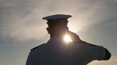 navy sailor saluting