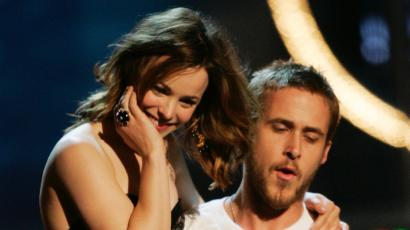 """Actors Rachel McAdams and Ryan Gosling of the film """"The Notebook,"""" which was based on Sparks's blockbuster novel."""