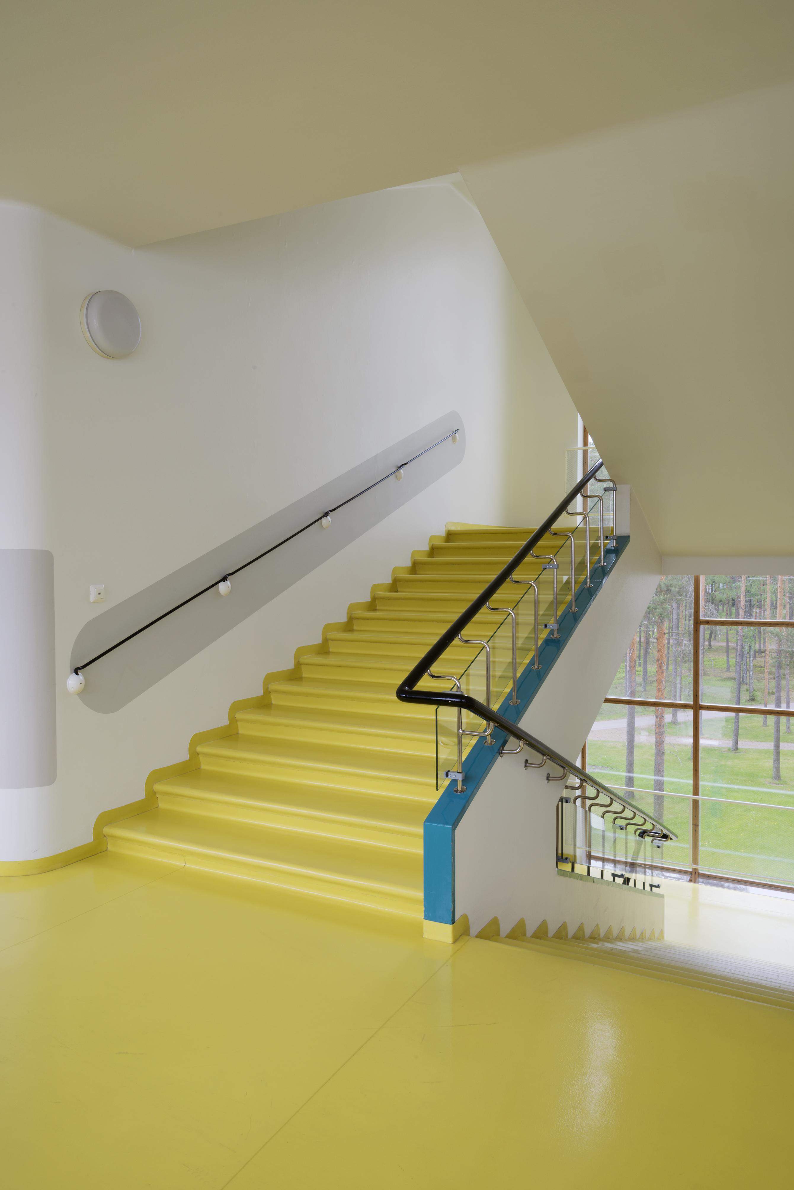 staircase at Paimio sanatorium