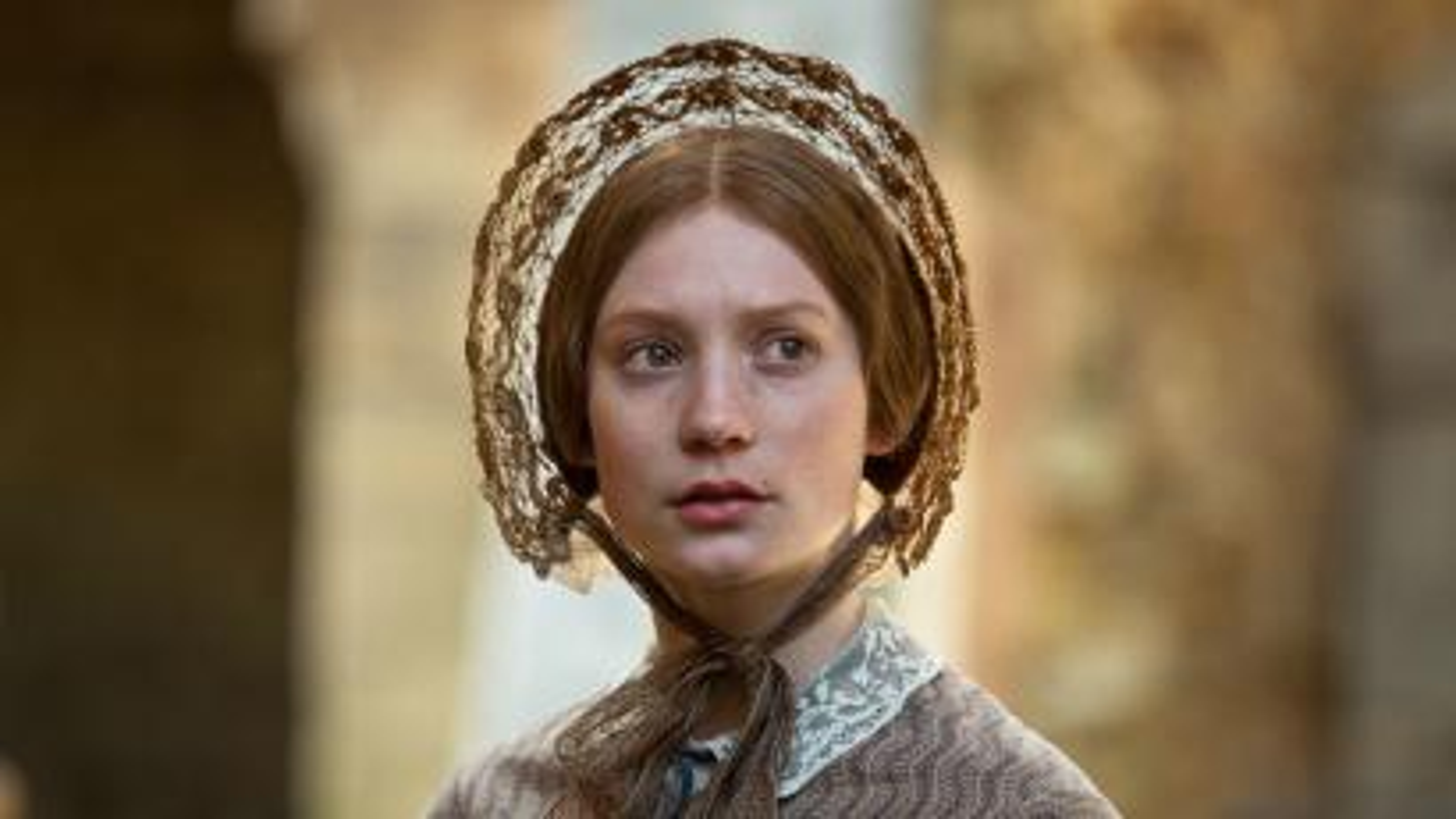 Mia Wasikowska as Jane Eyre in the 2011 movie adaptation of Charlotte Brontë's novel
