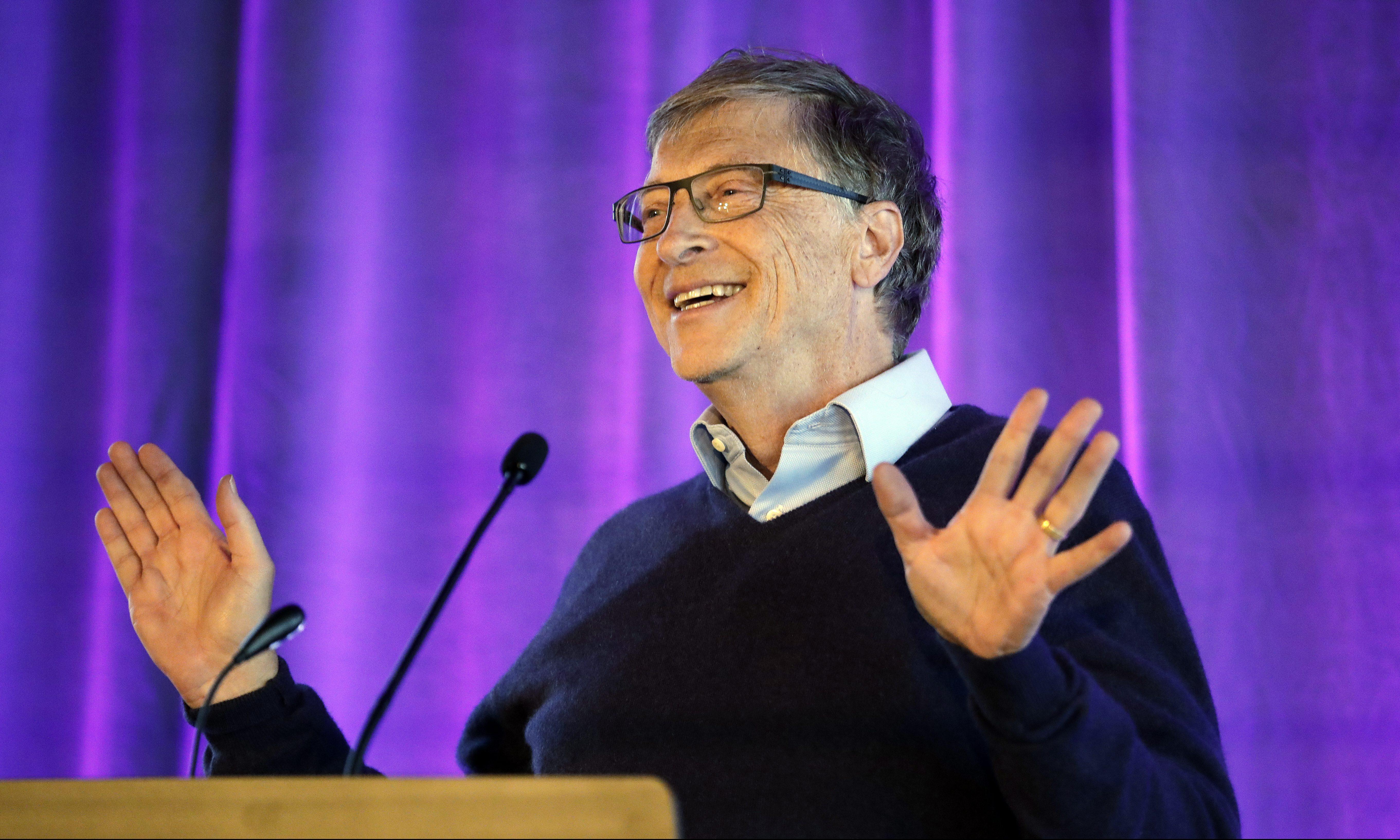 Microsoft co-founder Bill Gates speaks