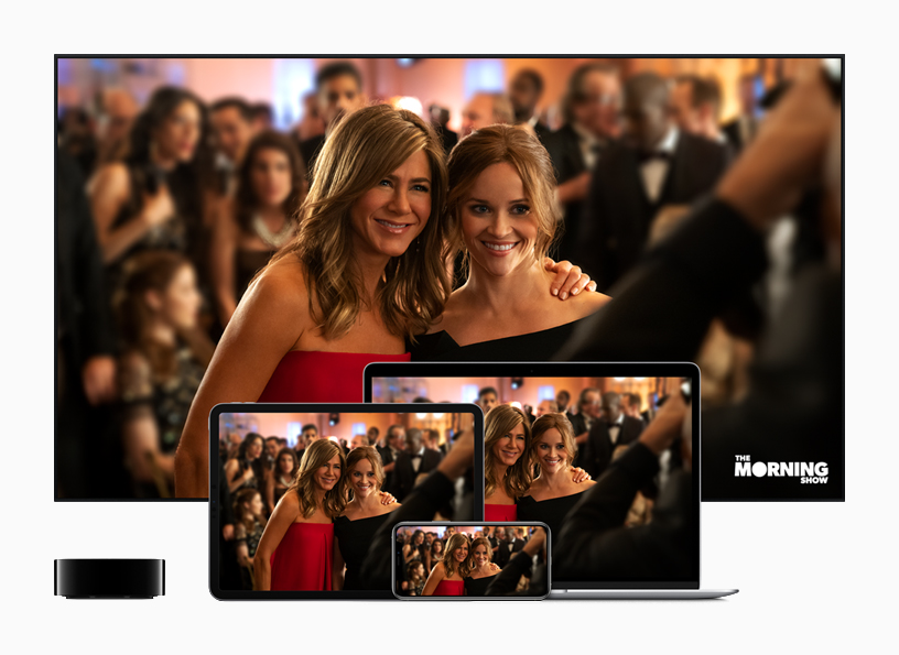 Apple TV+, running on Apple TV, and other devices.
