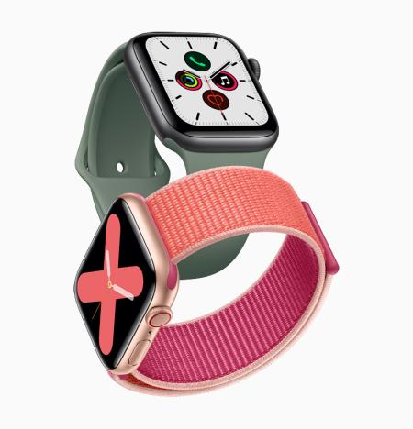 The Apple Watch series 5.