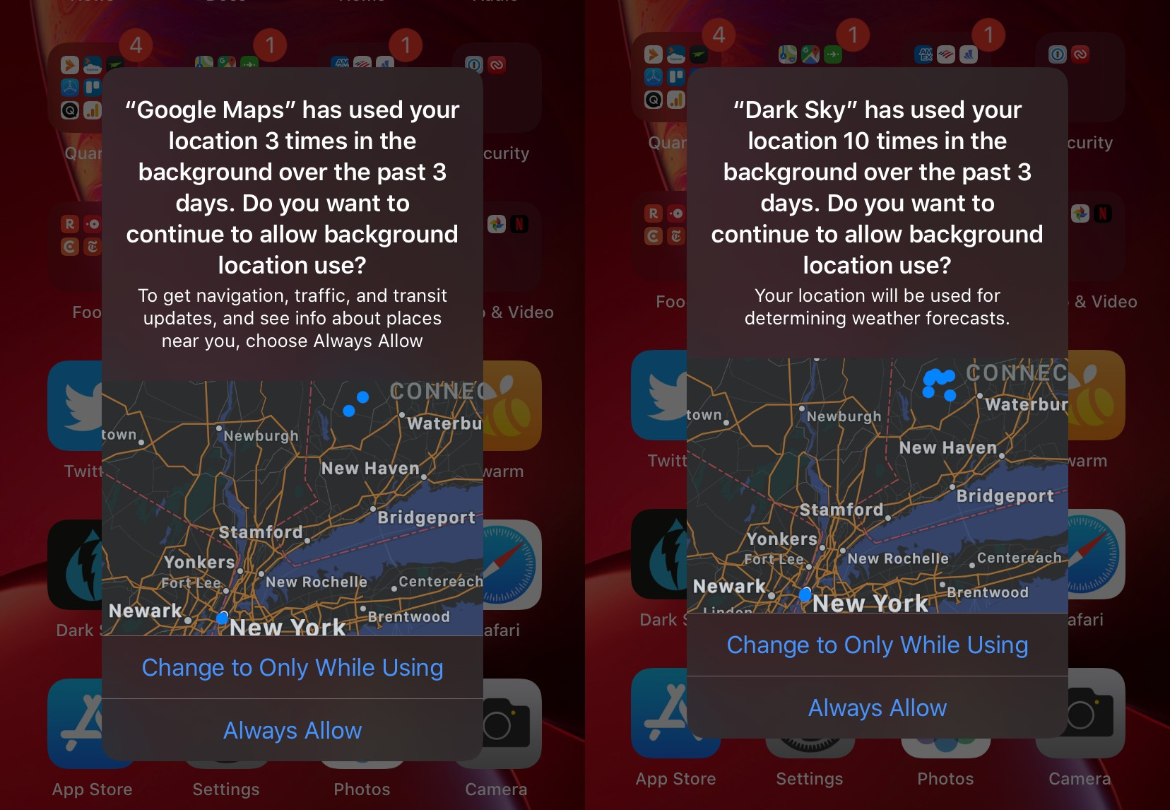 What to do when an iPhone app is using your location in the ...