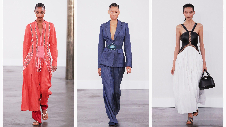 Models walk the runway at Gabriela Hearst