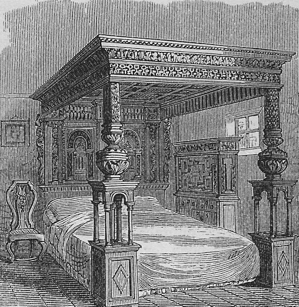 An illustration of The Great Bed of Ware