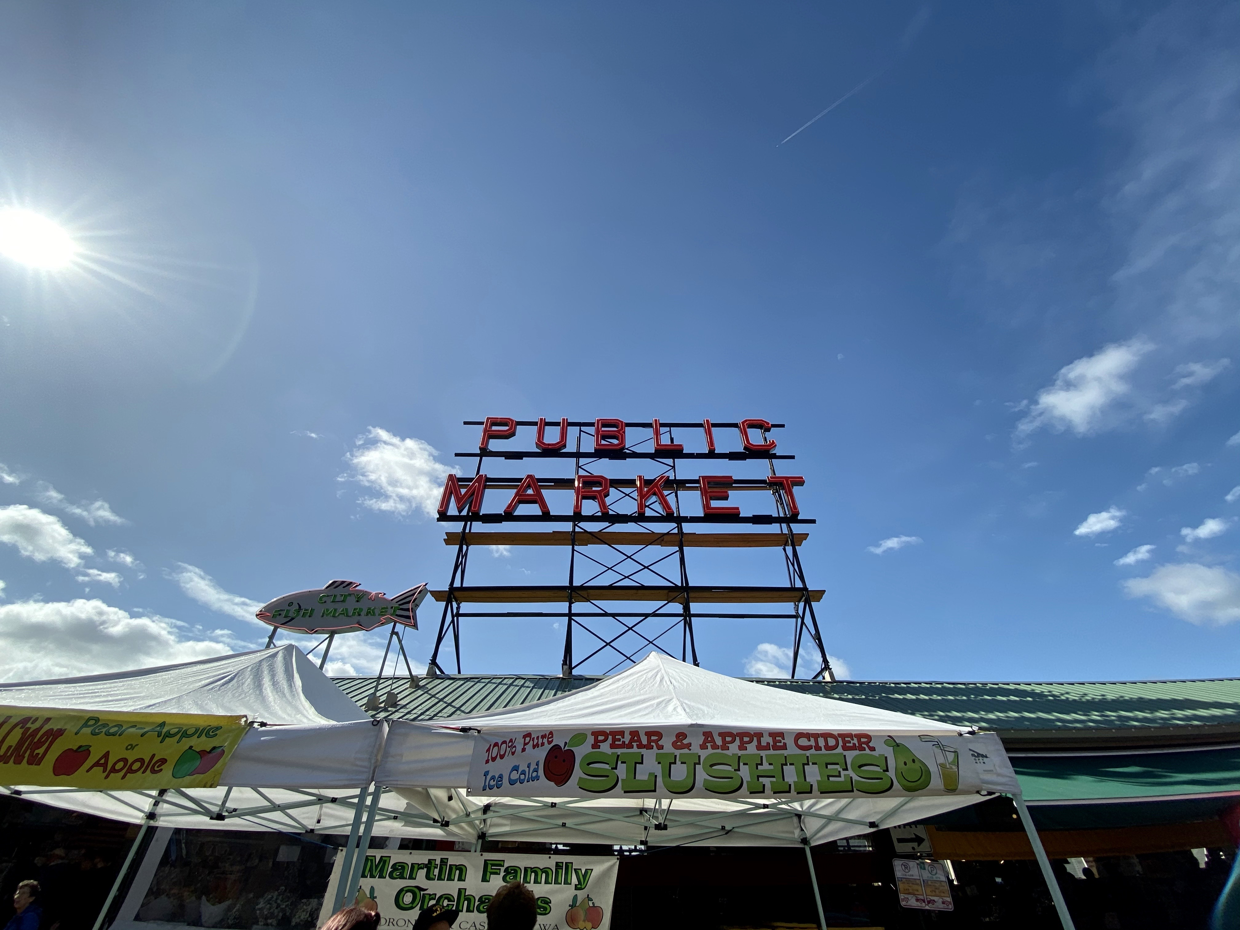 Seattle's famous market sign is easier to get in on the iPhone 11 Pro Max.