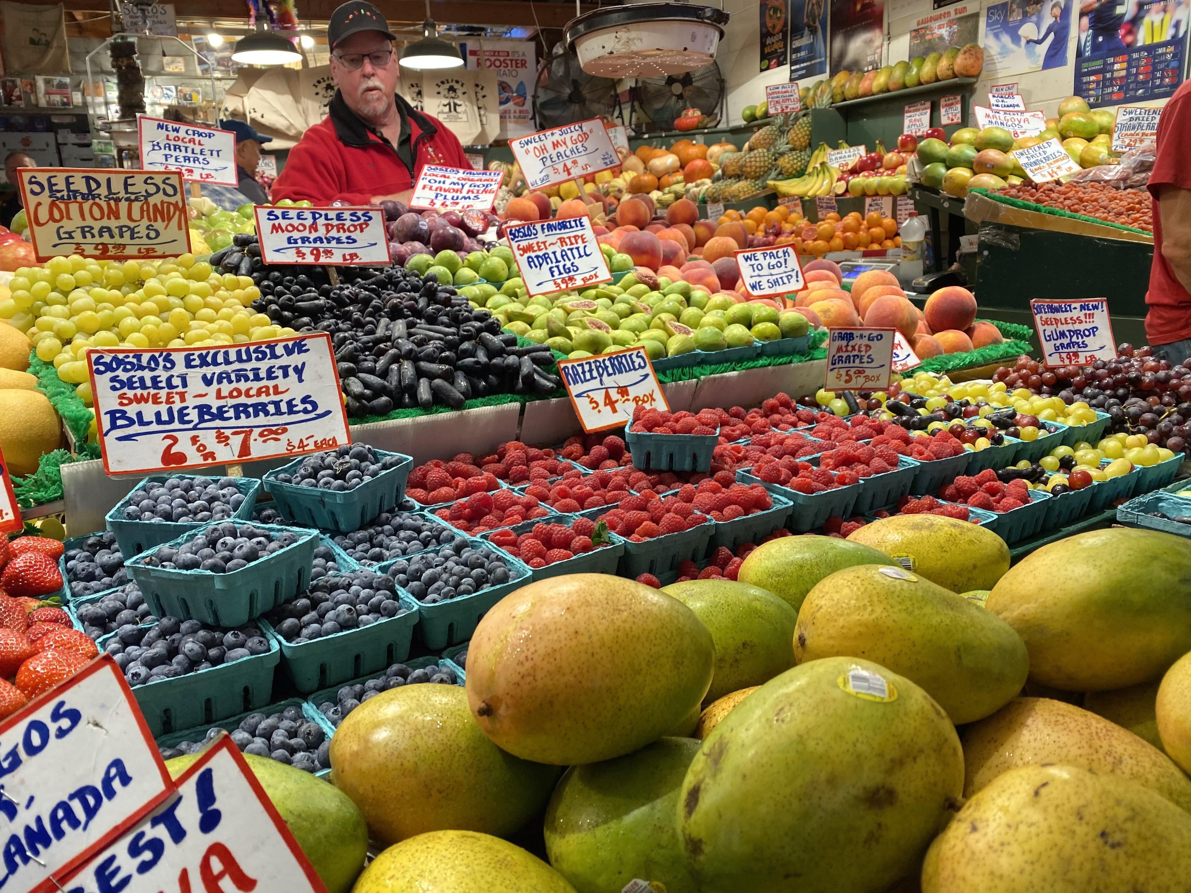 fruit at Seattle market