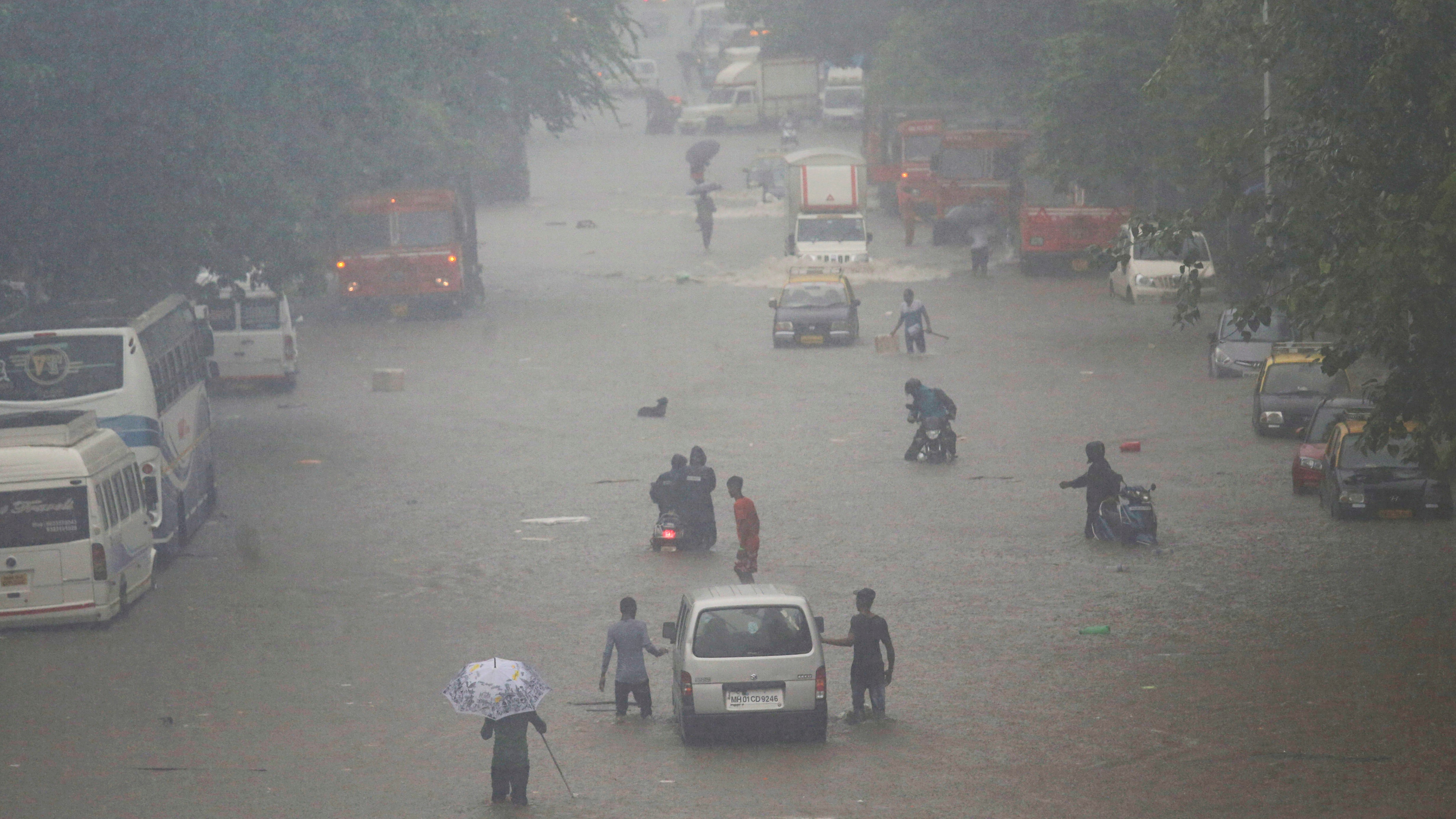 Incredible scenes from India's financial capital that's drowning in rainwater—yet again