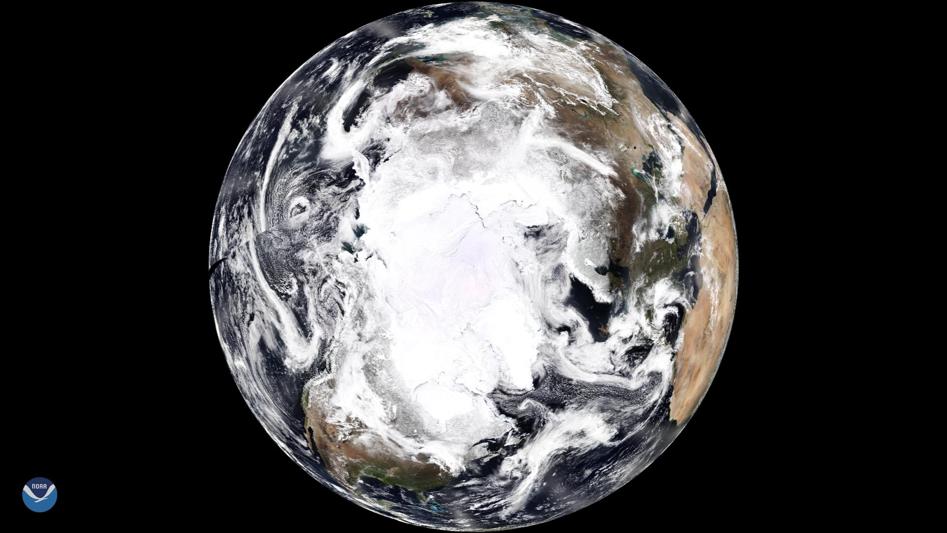 Satellite pic of planet.