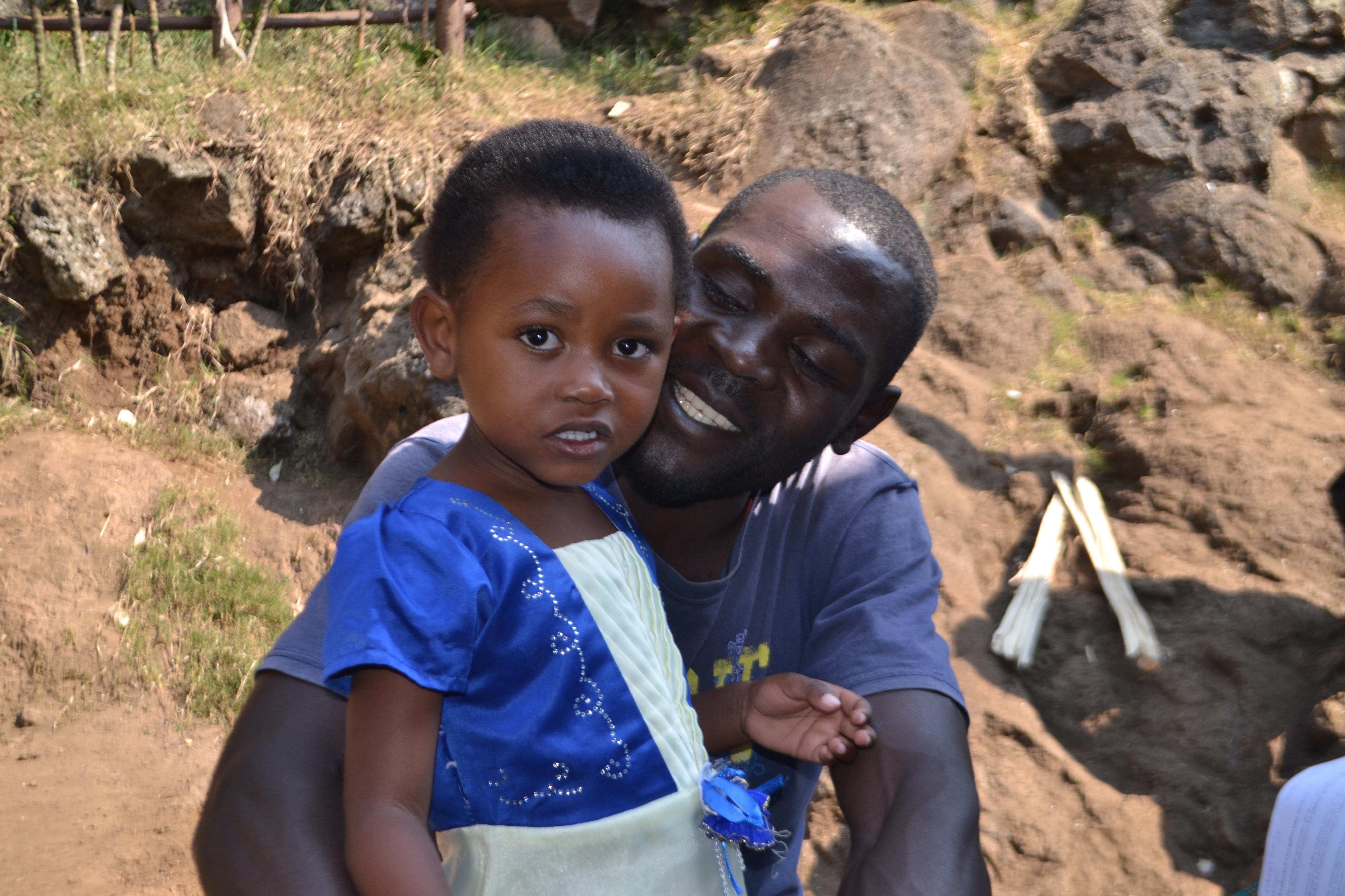 Odille Igirimbabazi and her father James Turikumwe