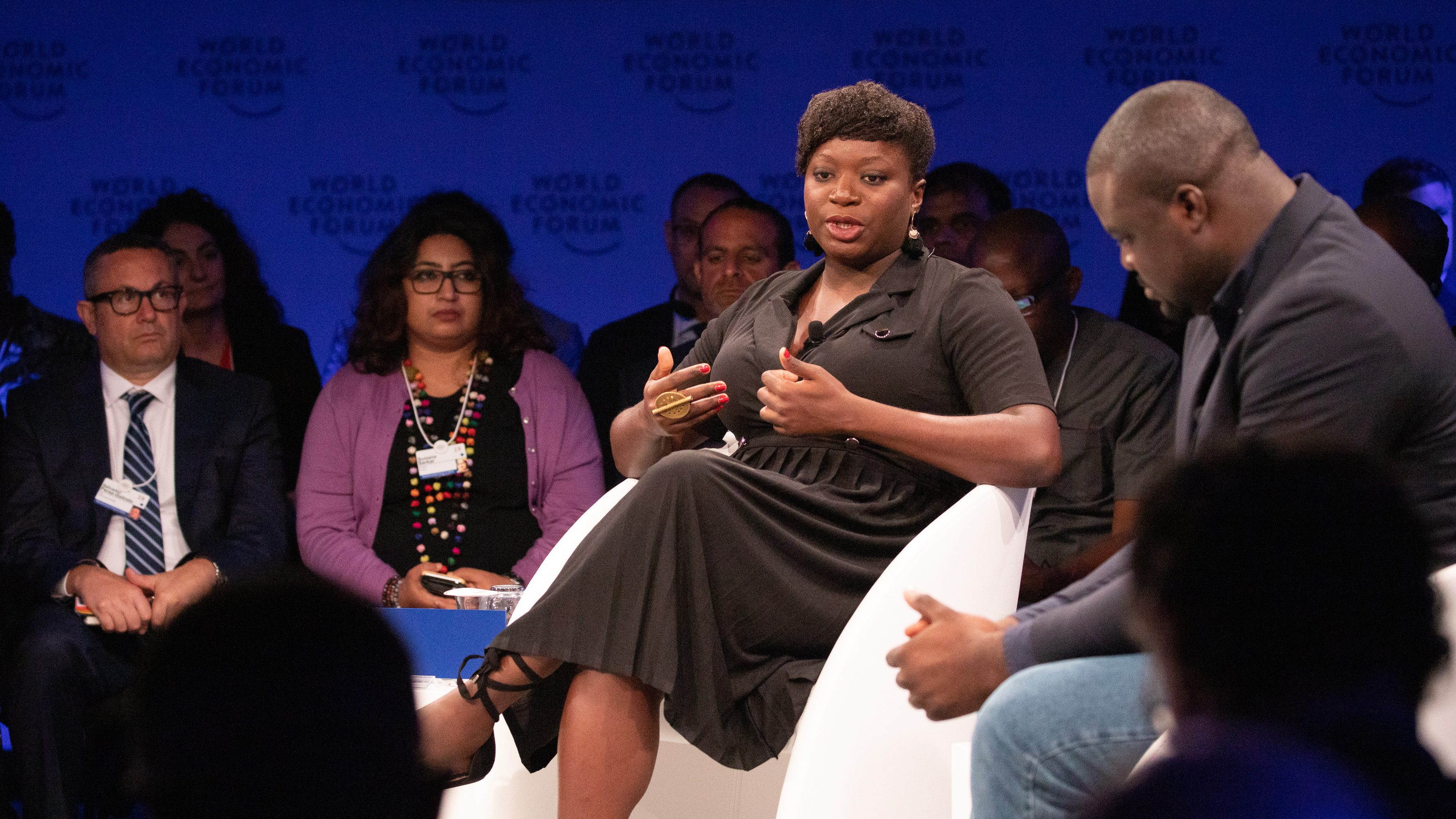 Fatoumata Ba, Founder and Chief Executive Officer, Janngo, France; Young Global Leader speaking during the session Africa's Innovators of the Year at the World Forum World Economic Forum on Africa 2019.