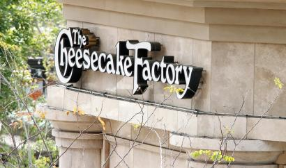 A sign for The Cheesecake Factory restaurant