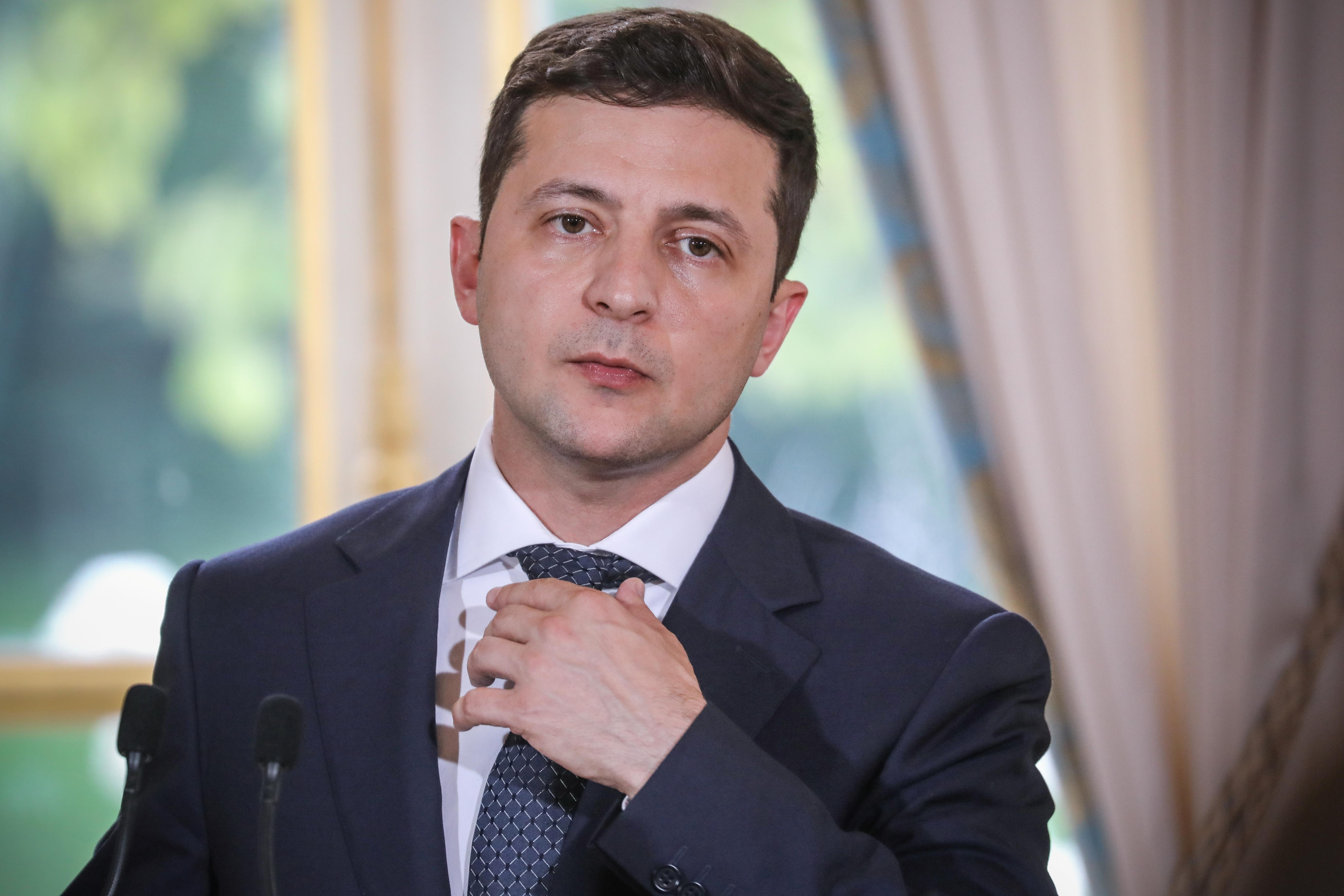 Ukraine's president Volodymyr Zelensky.