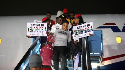 Nigerians, who were evacuated from South Africa after xenophobic attacks on foreign nationals, arrive at Lagos airport, Nigeria September 11, 2019.
