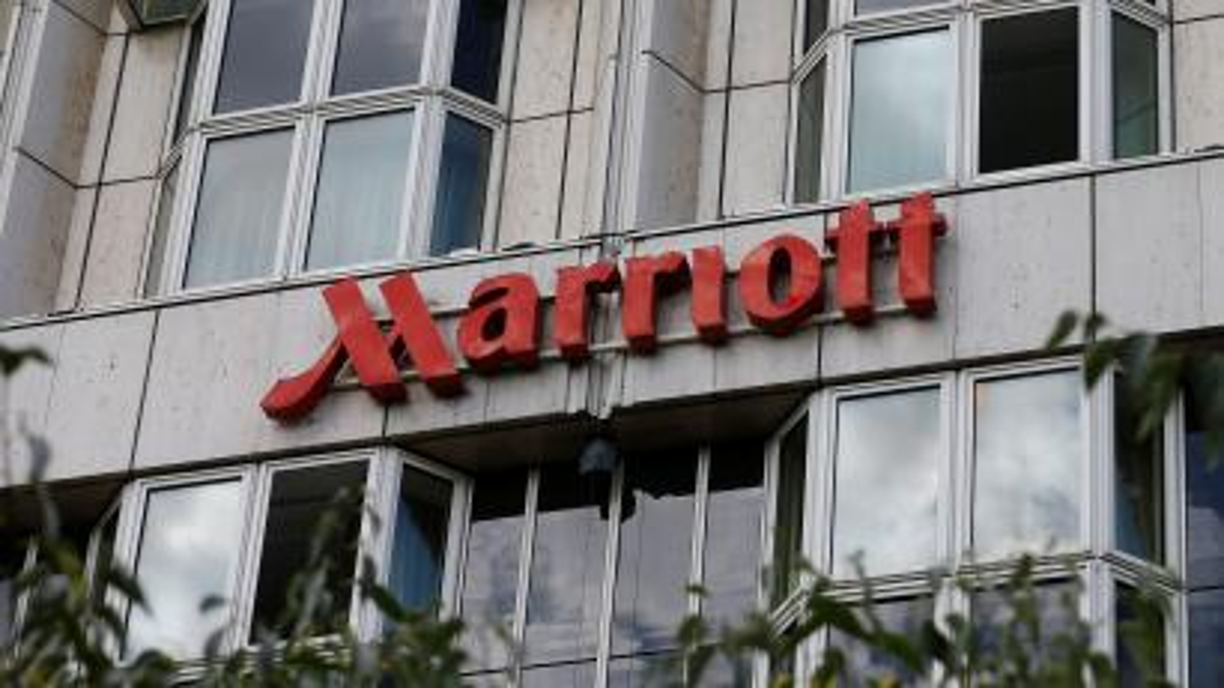The logo of Marriott hotel is seen in Vienna