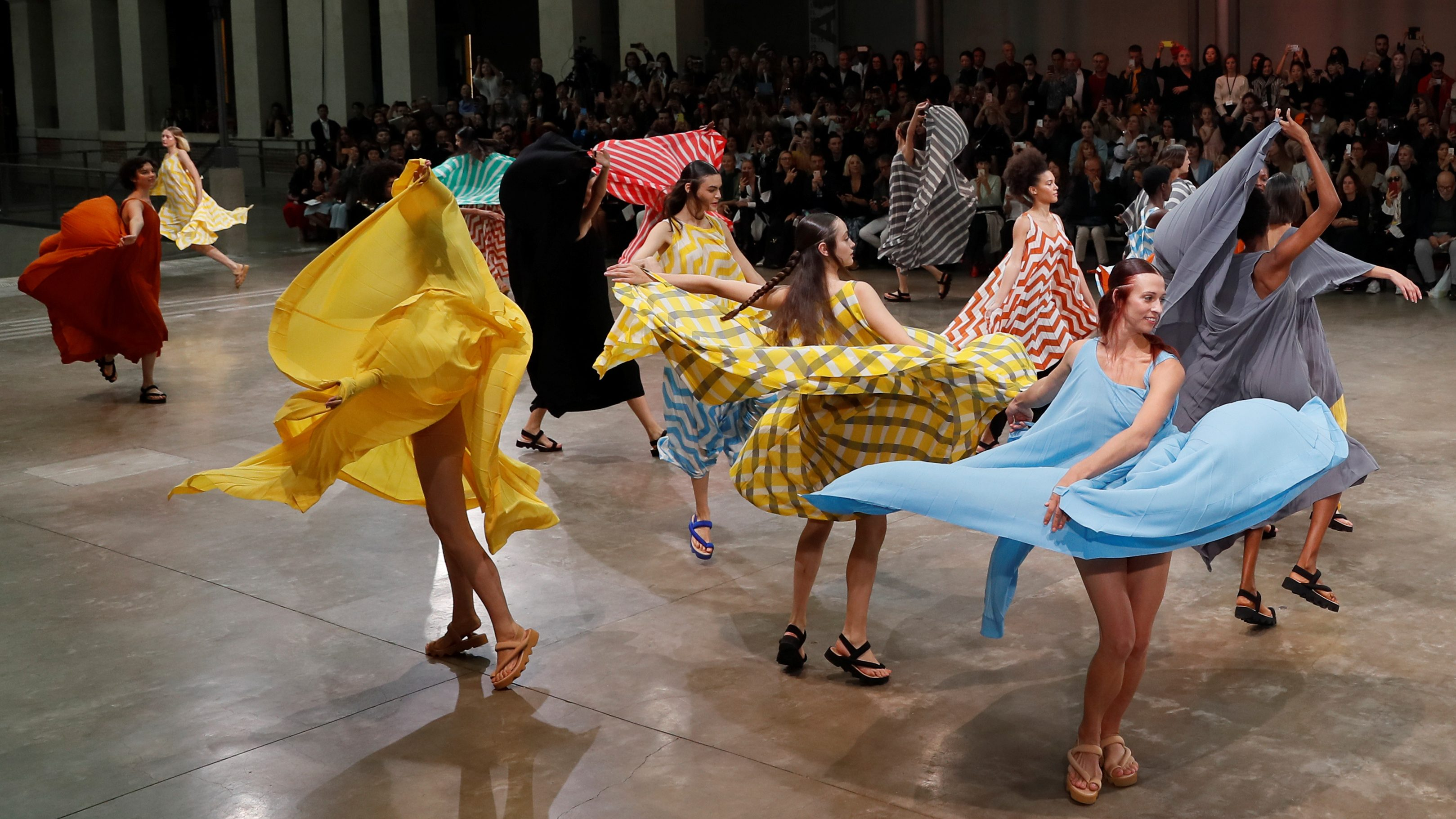 Issey Miyake's spring/summer 2020 collection is an ode to joy