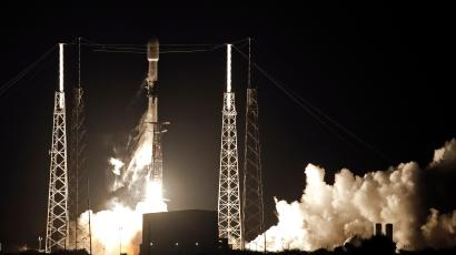 The rocket carrying 60 Starlink satellites to orbit in May.