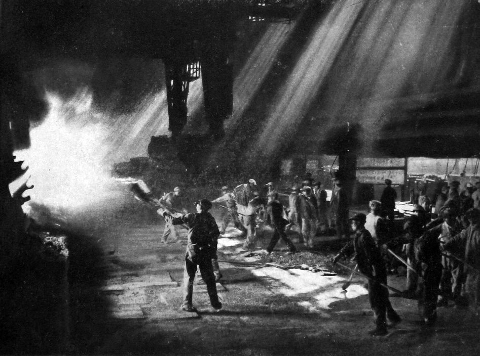 Steel furnace, Unknown location in China, September 1958.