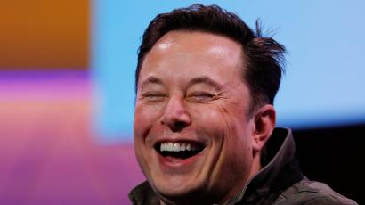 SpaceX owner and Tesla CEO Elon Musk smiles during a conversation with legendary game designer Todd Howard (not pictured) at the E3 gaming convention in Los Angeles, California, U.S., June 13, 2019.