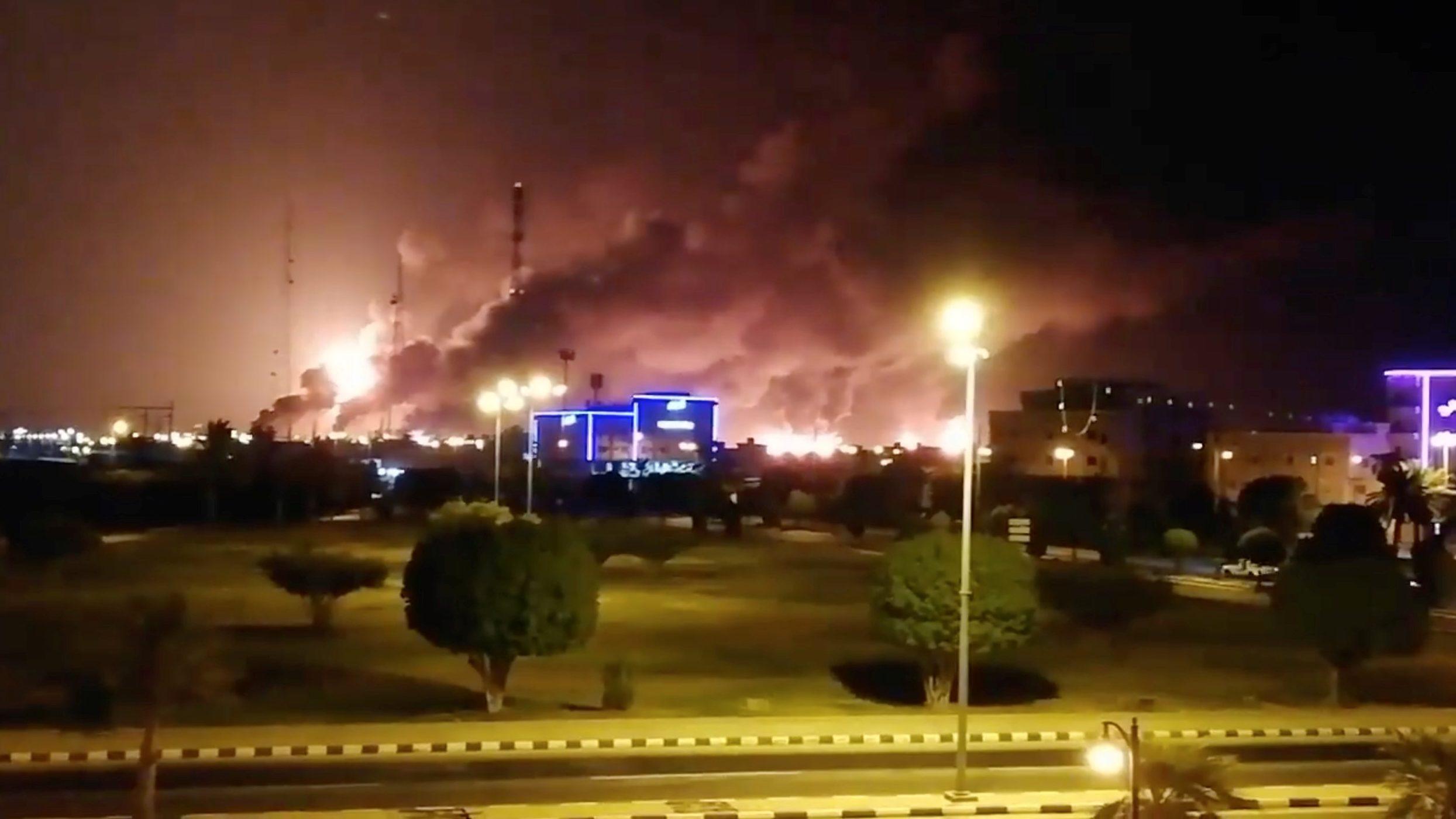 Image result for Saudi Arabia oil attack