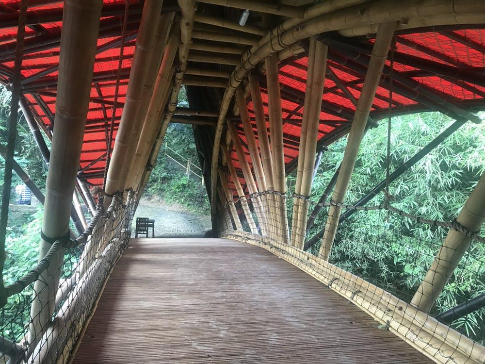 Bamboo bridge at the Green School in Bali